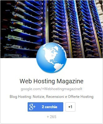 Web Hosting Magazine su Google Plus