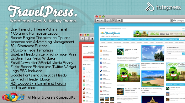 TravelPress Tema Viaggi per WordPress