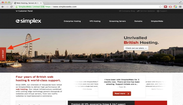 La nostra recensione su SimplexWebs, hosting inglese