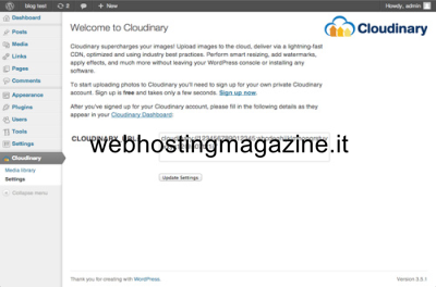Il plugin di Cloudinary per WordPress