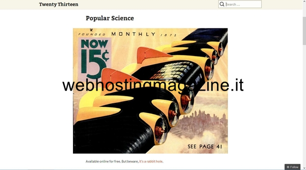 Anteprima del nuovo tema di WordPress Twenty Thirteen