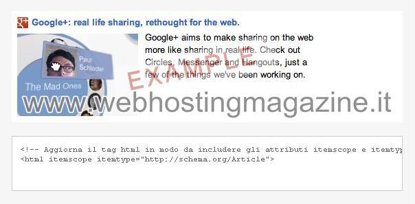Snippet Google Plus