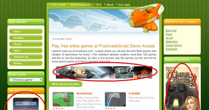 Pro Arcade Script: Creare sito giochi online