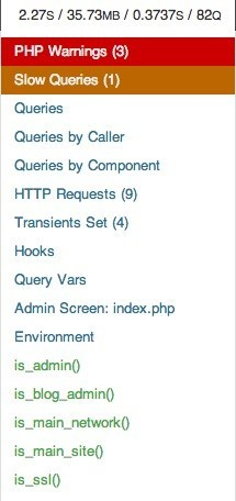 Il plugin Query Monitor per WordPress