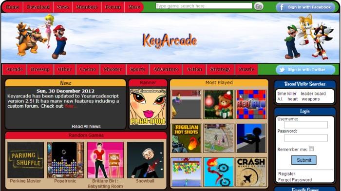 Your Arcade Script: Creare sito di giochi online
