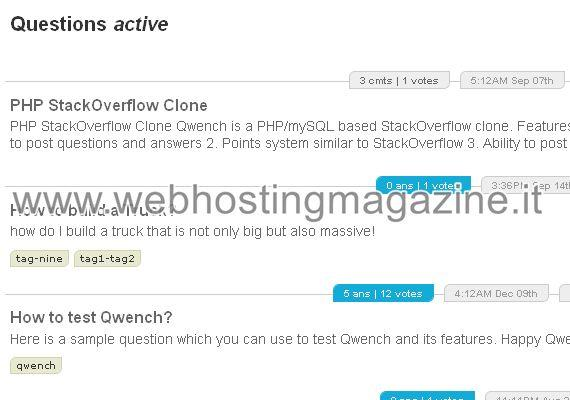 Qwench - Clone di Stackoverflow