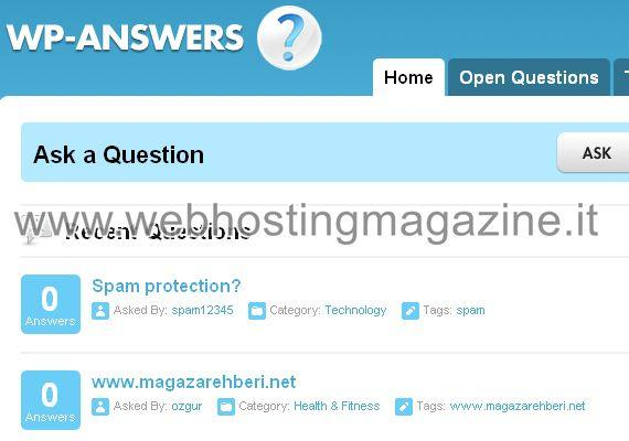WP– Answers: Plugin per WordPress