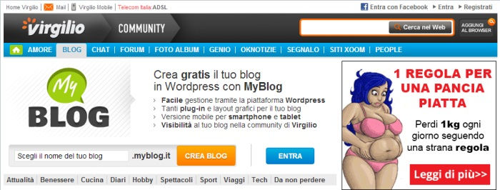 Come creare un blog gratis su Myblog