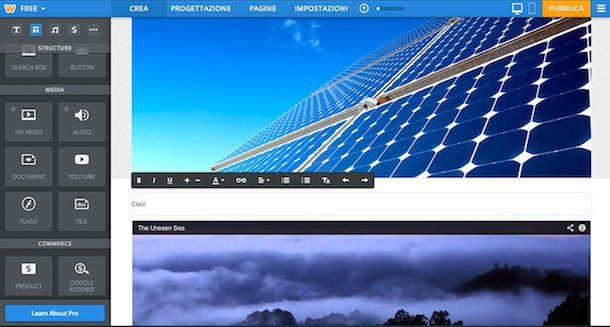 Come creare un sito web gratis con Weebly