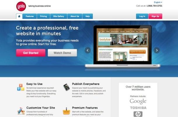 Come creare un sito web gratis con Yola