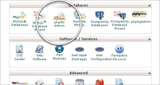 Fare un backup di un database MySQL con PHPMyAdmin