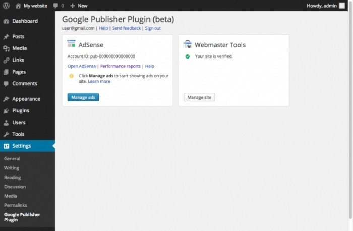 Google Publisher Plugin per WordPress 2