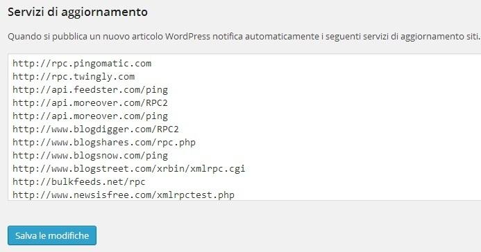 Velocizzare Indicizazzione WordPress - Servizi di Aggiornamento