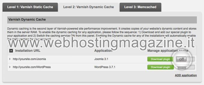 Come attivare la Dynamic Cache di Varnish