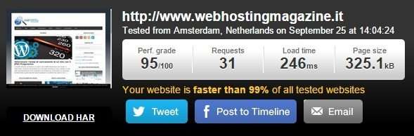 Test Web Hosting Magazine su Pingdool Tools