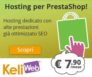 L'hosting ottimizzato per Prestashop di Keliweb