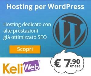 L'hosting ottimizzato per WordPress di Keliweb!