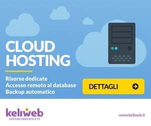 Keliweb | Cloud Hosting con risorse dedicate ed alte prestazioni