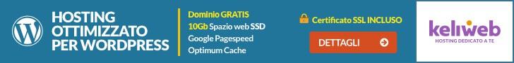 Keliweb hosting ottimizzato per WordPress